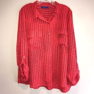APT 9 Loose fitting button down